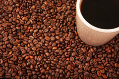Coffe and Beans Royalty Free Stock Images