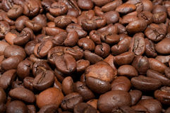 Coffe beans. Background from coffee grains close up Royalty Free Stock Photography