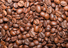 Coffe beans. Background from coffee grains close up Royalty Free Stock Image