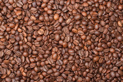 Coffe beans. Background from coffee grains close up Royalty Free Stock Photos