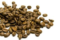 Coffe beans. Close-up on white background Stock Image
