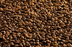 Coffe beans. Dark brown coffee beans background Royalty Free Stock Image