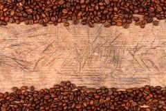 Coffe beans as border Stock Photography