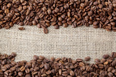 Coffe beans background Stock Photos