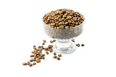 Coffe beans in bowl Stock Photography