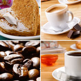 Coffe beans cake Stock Photos