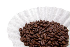 Coffe Beans in Filter Royalty Free Stock Photo
