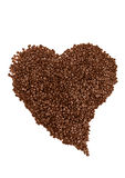 Coffe beans heart shaped Stock Photos
