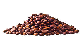 Coffe beans. Isolated on white background Royalty Free Stock Photo
