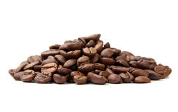 Coffe Beans Isolated On White Background Stock Photo