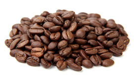Coffe Beans Isolated On White Background Royalty Free Stock Image
