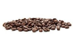 Coffe Beans Isolated On White Background Stock Photography