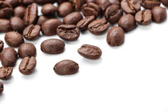 Coffe Beans Isolated On White Royalty Free Stock Photography