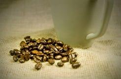 Coffe beans and mug Stock Photography