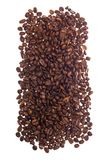 Coffe beans over white background Stock Photos