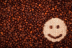 Coffe beans smiley face Stock Images