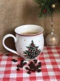 Coffe-Becher Weihnachten Stockfoto