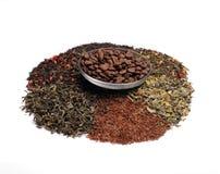 Coffe blandade teer - Fotografering för Bildbyråer