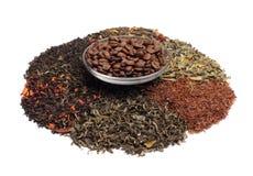 Coffe blandade teer - Royaltyfri Fotografi