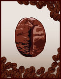 Coffe Bohnen Lizenzfreies Stockfoto