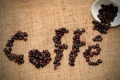 Coffe Bohnenbeschaffenheit Stockbild