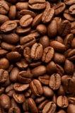 Coffe Bohnenhintergrund Stockfoto