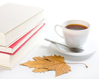 Coffe and books Royalty Free Stock Photos