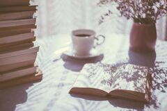 Coffe and books Stock Photography