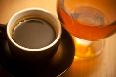 Coffe and brandy Stock Image
