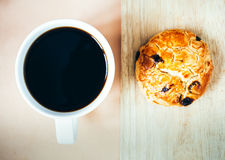 Coffe and bread Stock Photography