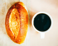 Coffe and bread Royalty Free Stock Photos