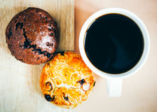 Coffe and bread Royalty Free Stock Images