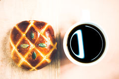 Coffe and bread Royalty Free Stock Photography