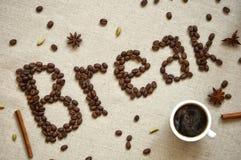 Coffe Bruchplakat Lizenzfreie Stockfotografie