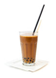 Coffe with bubble tea, milkshake Royalty Free Stock Photo