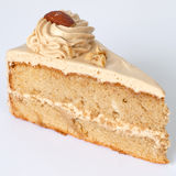 Coffe cake. Coffee cake on a white background Royalty Free Stock Image