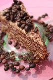 Coffe cake stock photo
