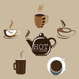 Coffe caldo Fotografia Stock