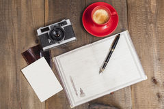 Coffe Camera and Film Stock Image