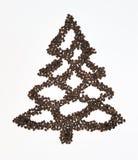 Coffe Christmas tree Royalty Free Stock Photography