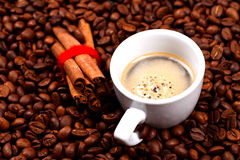 Coffe and cinnamon Royalty Free Stock Photo