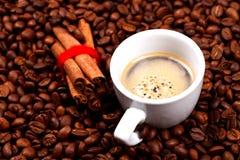 Coffe and cinnamon Royalty Free Stock Photo