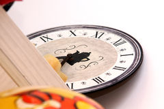Coffe clock Stock Photography