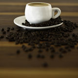 Coffe and coffe beans Stock Images