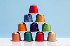 Coffe colorato del baccello immagini stock