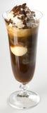 Coffe con crema ed il gelato Fotografie Stock