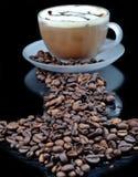 Coffe con los gránulos Fotos de archivo libres de regalías