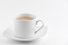 Coffe cup. Coffe in a simple cup on white background stock photography