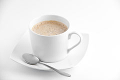 Coffe cup. With classy spoon royalty free stock photography
