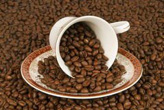Coffe from cup Royalty Free Stock Images